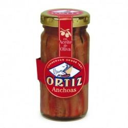 Anchois Ortiz à l'huile d'olive 95g