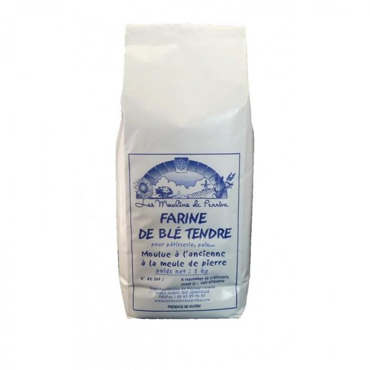Farine de blé tendre Moulins de Perrine 1kg