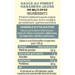 Sauce piment  Martin TONNERRE force 8/12 100ml
